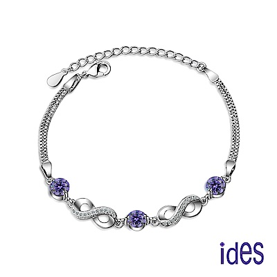 ides愛蒂思 歐美設計彩寶系列紫水晶手鍊/愛無限
