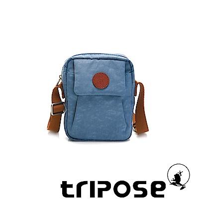 tripose PAN微皺尼龍直式斜背包-天空藍
