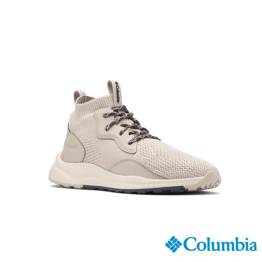 Columbia 哥倫比亞 女款- 高筒透氣健走鞋SH-卡其 UBL00820KI