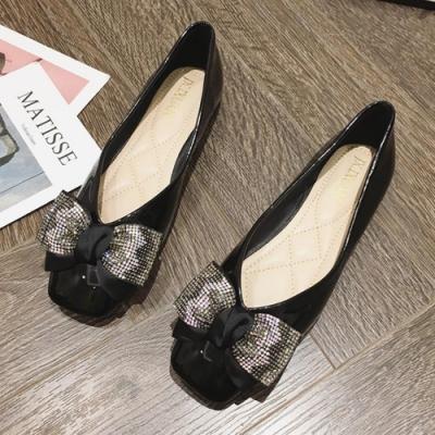 韓國KW美鞋館-(現貨)明星同款柔美愛戀平底鞋(共1色)