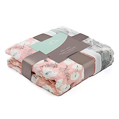 美國aden anais嬰幼兒絲柔(竹纖維)被毯-典雅花紋系列AA9328