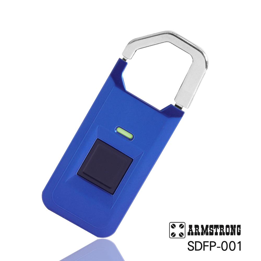 ARMSTRONG 指紋隨身行李掛鎖SDFP-001-科技藍