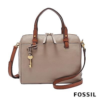 FOSSIL RACHEL 手提+側背兩用波士頓包-奶油駝色