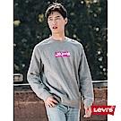 Levis 男款 大學T 經典Box logo 內刷毛 灰