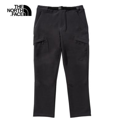 The North Face北面男款深灰色防風防潑水戶外徒步褲|4NAA0C5