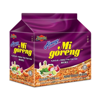 馬來西亞 Always-泰式酸辣乾撈麵(經濟包) 80gx5包