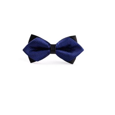 Laifuu拉福,高檔尖角領結新郎結婚領結糾糾(藍點款)(兒童)