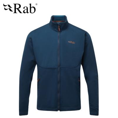 【英國 RAB】Geon Jacket 中層透氣刷毛外套 男款 深墨藍 #QFE95