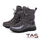 TAS素面防潑水抽繩雪地靴-質感灰 product thumbnail 1