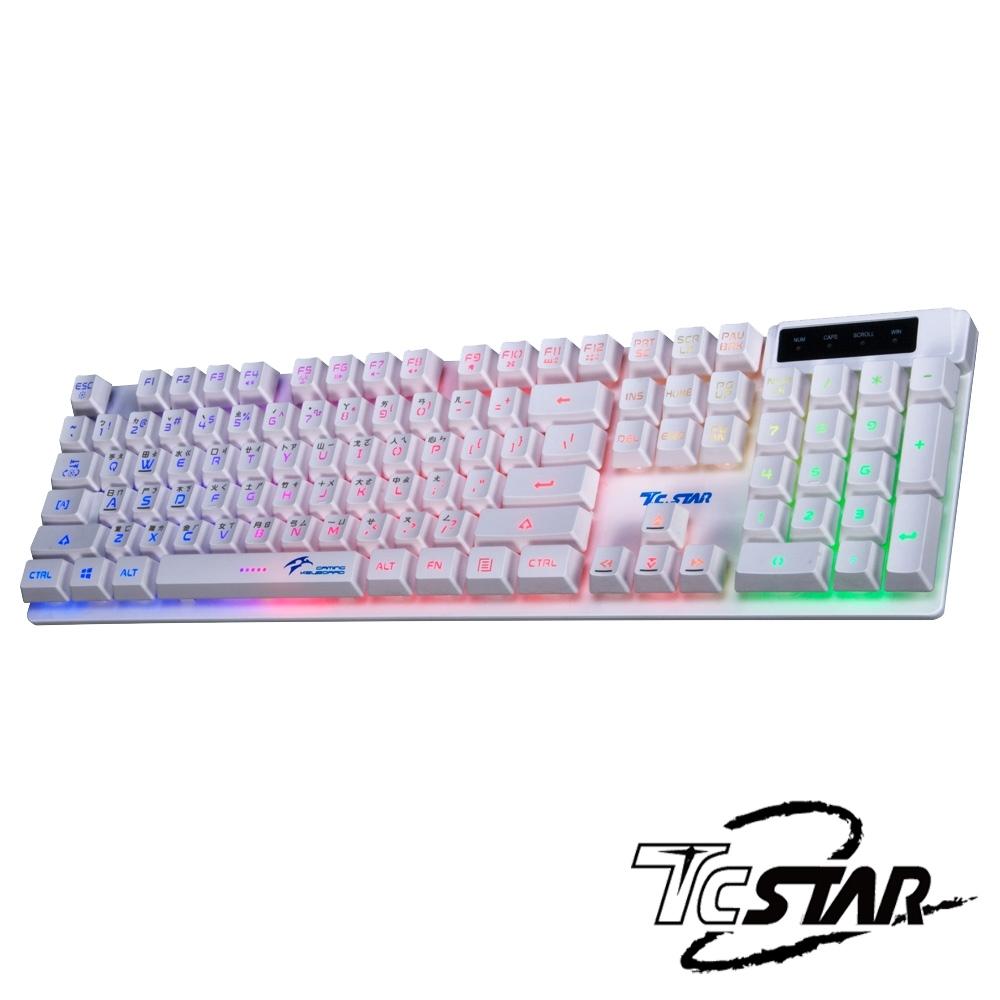 福利品 TCSTAR 七彩光電競鍵盤 TCK700