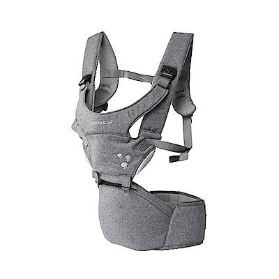 英國沐伊MOOIMOM 輕巧簡約款坐墊式腰凳揹帶-淺灰