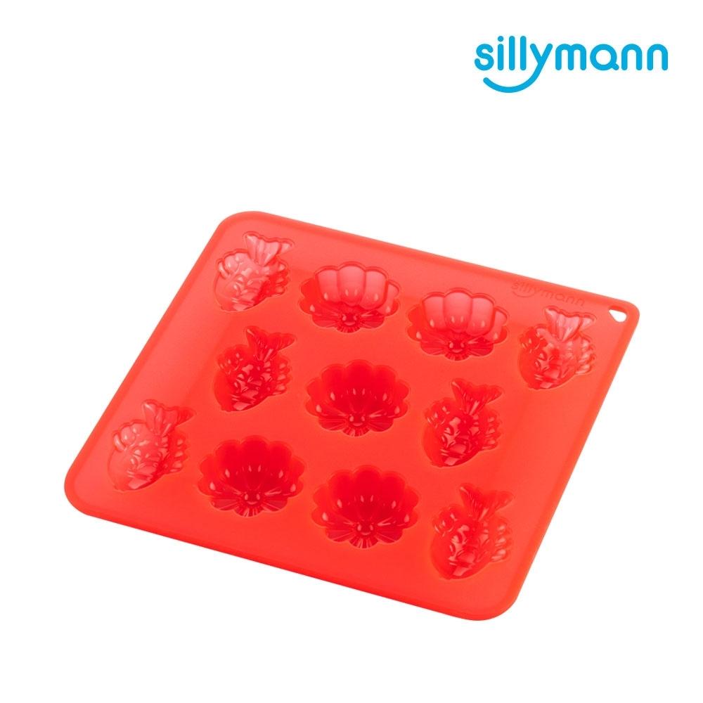 【韓國sillymann】100%鉑金矽膠餅乾/糕點烘焙模具(烤箱/氣炸鍋/微波爐/電鍋專用)-透明紅