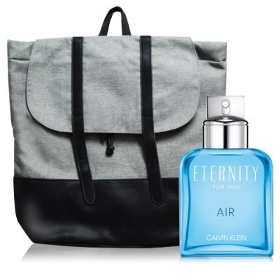 Calvin Klein Eternity Air永恆純淨男性淡香水100ml+品牌後背包
