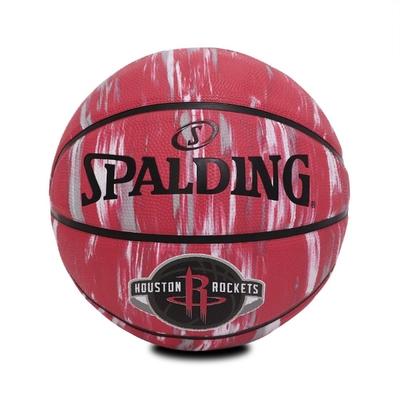SPALDING 籃球 NBA Houston Rockets Rubber 斯伯丁 7號球 室外 大理石印花 紅 白 SPA84150