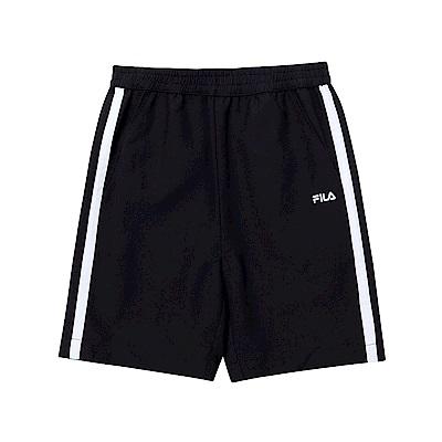 FILA KIDS 童風衣四分褲-黑色 1SHT-4503-BK