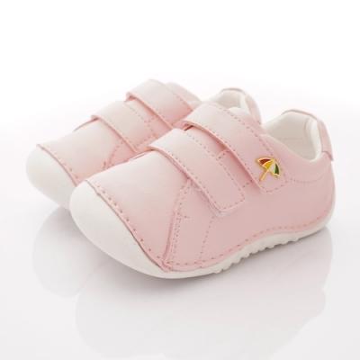 雨傘牌 輕量皮質學步鞋款 EI93207粉(寶寶段)