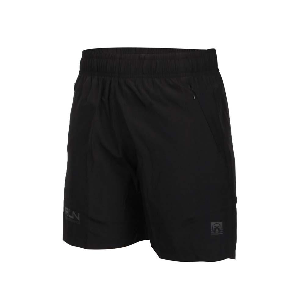 FIRESTAR 女彈性平織短褲-五分褲 慢跑 運動 反光 CL025-10 黑