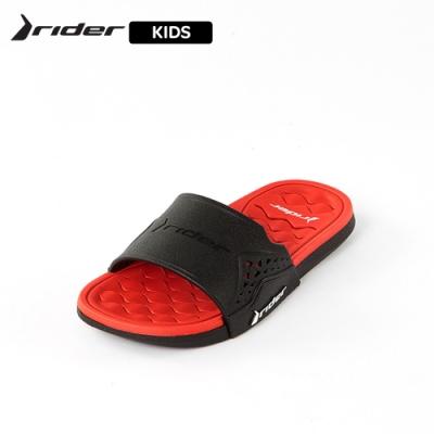 Rider  ATHLETIC機能核芯一字拖 童鞋 黑紅