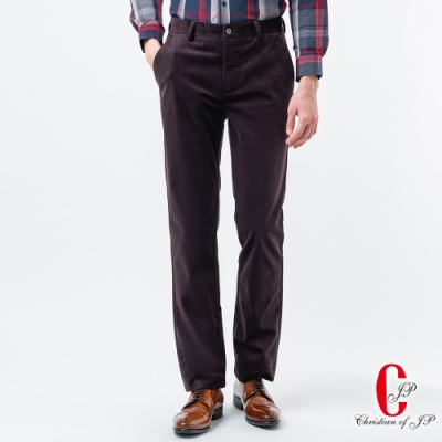 Christian  義式品味保暖牛仔款休閒褲_紫紅(HW837-1)