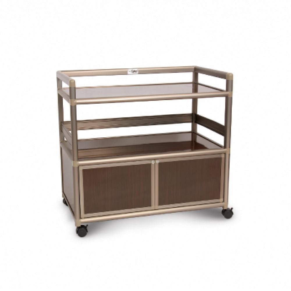 Cabini小飛象-黑桃木得意3.0尺鋁合金餐櫃88.5x50.8x83.6cm