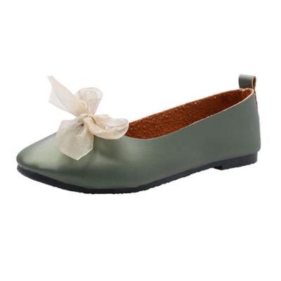 KEITH-WILL時尚鞋館 典雅圓頭簡約平底鞋-綠色