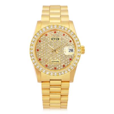 HYUN炫 極致奢華多鑽精品錶-金