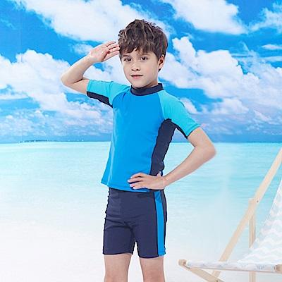 男童兩件式泳衣(T-860)短袖短褲TiNyHouSe