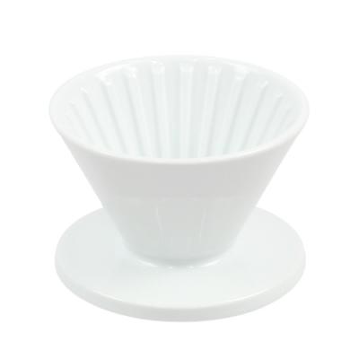 CAFEDE KONA 波佐見燒 HASAMI 時光陶瓷濾杯01-白