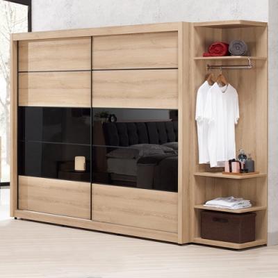 Boden-尼克森8.6尺衣櫃組合(推門衣櫃+轉角衣櫃)-258x61x197cm