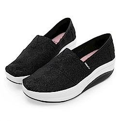 PLAYBOY 閃耀迷人亮蔥輕量休閒鞋-黑-Y5307CC