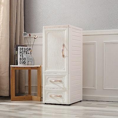 【Mr.box】鄉村風歐式 細縫櫃(單門三層2抽屜收納櫃)