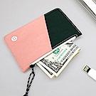 BNTP 雙色票卡零錢包-俏皮粉