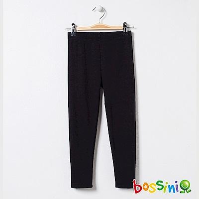 bossini女童-素色刷毛貼身褲01黑