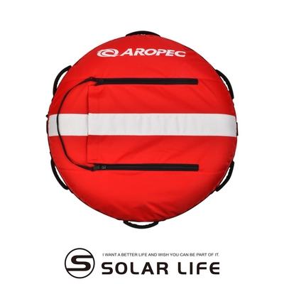 AROPEC 自由潛水浮球-浮球含內胎 (附潛水旗一面) RF-HL01.專業自潛浮球 口吹潛水浮球 UFO悠浮 導繩浮球浮台 防爆訓練浮球