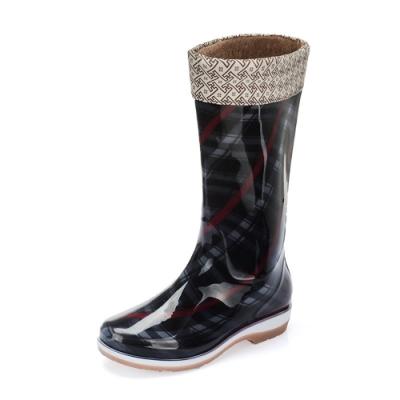 韓國KW美鞋館 (現貨+預購) 加絨長筒雨鞋雨靴-黑