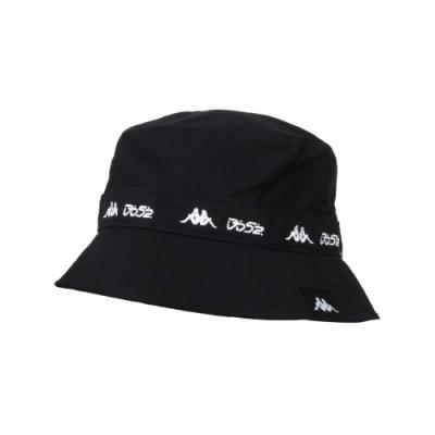 KAPPA DD52聯名漁夫帽-遮陽 防曬 帽子 菱格世代 純棉 351462W-005 黑白