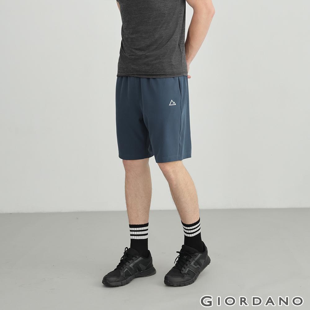 GIORDANO 男裝3M彈力內抽繩短褲 - 31 海月藍