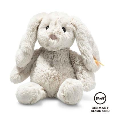 STEIFF德國金耳釦泰迪熊  Hoppie Rabbit  灰色小兔子(嬰幼兒玩偶)