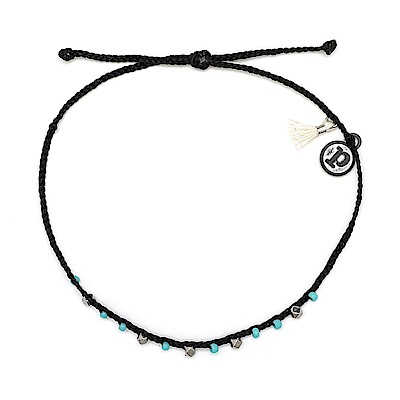 Pura Vida 美國手工 玲瓏彩珠系列 黑色臘線衝浪手鍊手環
