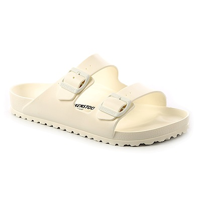 勃肯BIRKENSTOCK 129441。ARIZONA EVA經典二條拖鞋(白色)