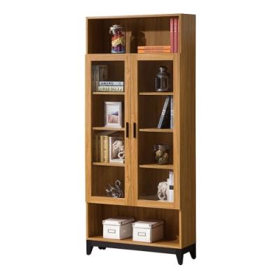 MUNA 優植2.7尺二門書櫃 80.3X31.8X194.7cm