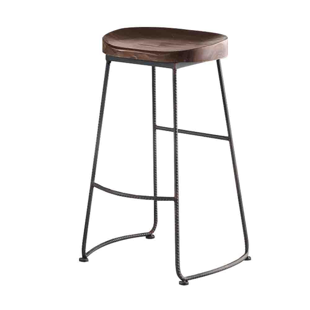 Bernice-班尼鐵腳吧台椅/高腳椅-41x31x76cm