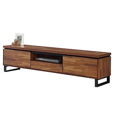 文創集 羅西時尚6尺木紋電視櫃/視聽櫃-180x40x45cm免組