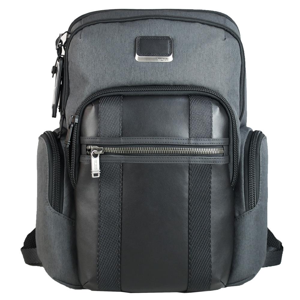 TUMI Alpha NELLIS 系列尼龍拼接後背包(適用15吋筆電)-炭灰