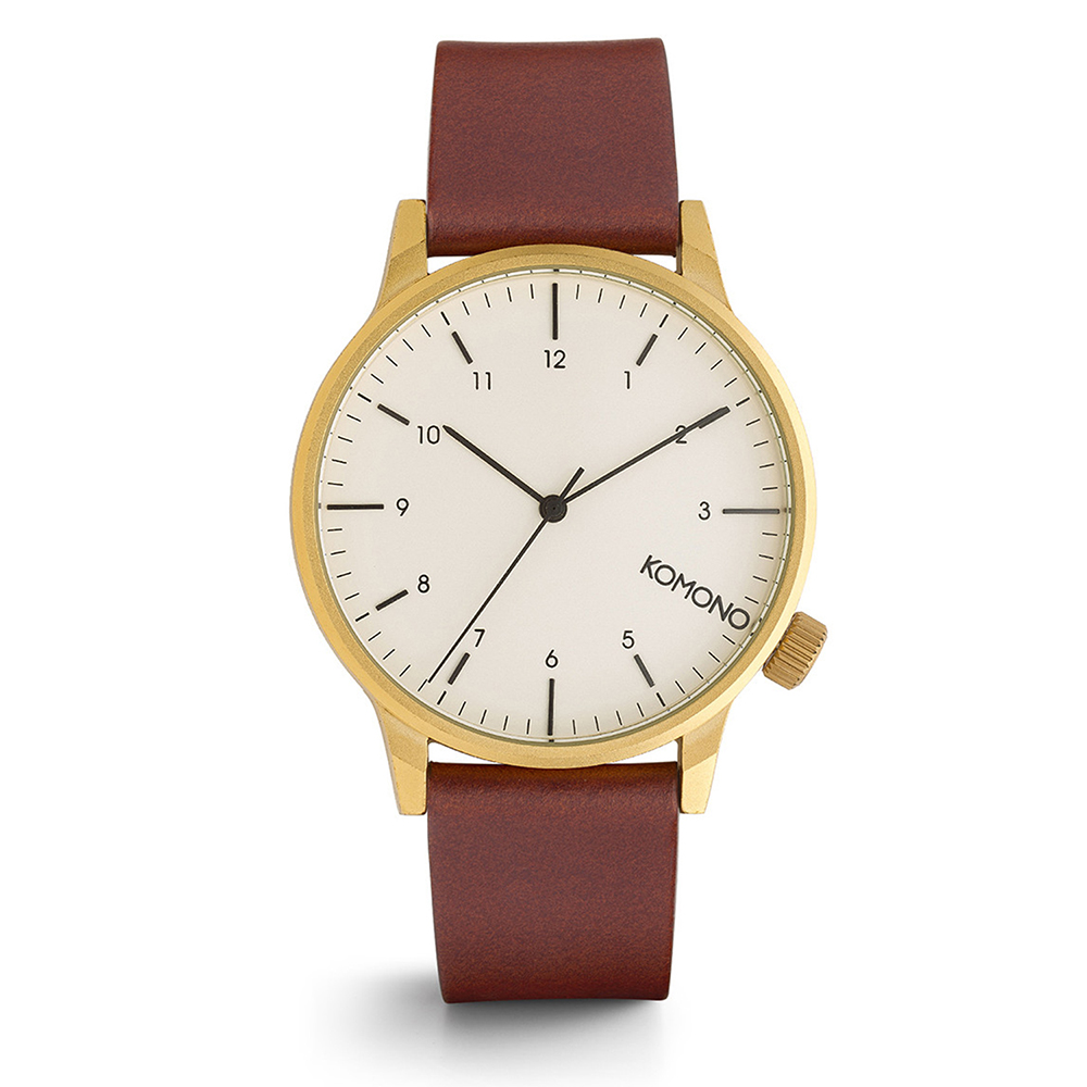 KOMONO Winston Regal 腕錶-金殼栗子/41mm