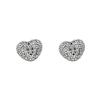 Pandora 潘朵拉  閃耀鑲鋯愛心 純銀耳環