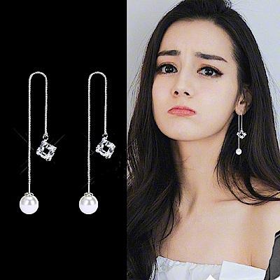 梨花HaNA 韓國925銀法式美妍珍珠耳線耳環