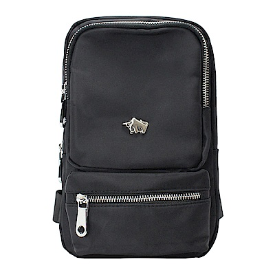 DRAKA 達卡 - 防潑水方形單肩斜背胸包-黑