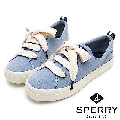 SPERRY 經典海軍麻繩帆布鞋(女)-亮藍