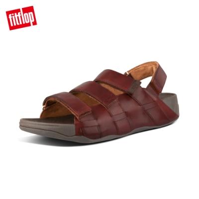FitFlop ETHAN BACK-STRAP SANDALS 可調整式魔鬼氈後帶涼鞋-男(暗紅色)